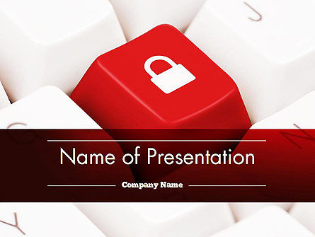 Technology and Science: Online Privacy Protection PowerPoint Template #11392