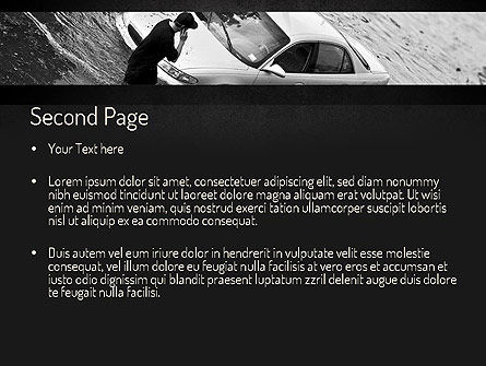 Car Flood PowerPoint Template, Slide 2, 11393, Cars and Transportation — PoweredTemplate.com