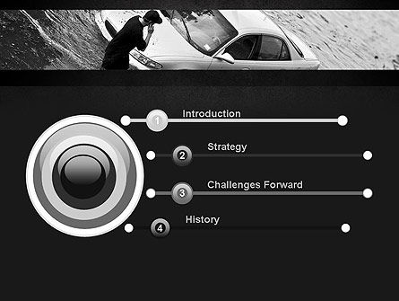 Car Flood PowerPoint Template, Slide 3, 11393, Cars and Transportation — PoweredTemplate.com