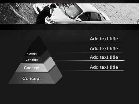Car Flood PowerPoint Template, Slide 4, 11393, Cars and Transportation — PoweredTemplate.com