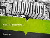 Education & Training: Components of Knowledge PowerPoint Template #11396