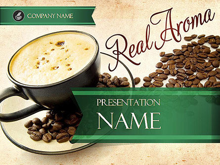 Food & Beverage: Mocha Coffee Flavor PowerPoint Template #11398