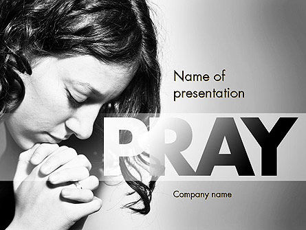 Religious/Spiritual: Women's Prayer PowerPoint Template #11401