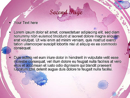 Watercolor Stains PowerPoint Template Slide 2