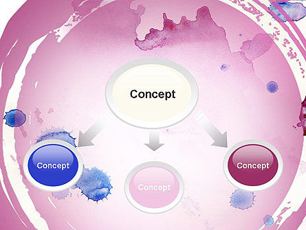 Watercolor Stains PowerPoint Template Slide 4