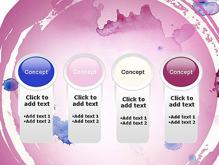 Watercolor Stains PowerPoint Template Slide 5