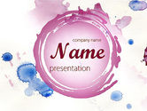Art & Entertainment: Watercolor Stains PowerPoint Template #11402