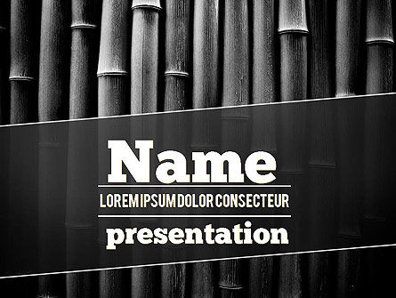 black bamboo powerpoint template backgrounds 11403