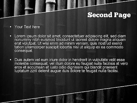 Black Bamboo PowerPoint Template, Slide 2, 11403, Nature & Environment — PoweredTemplate.com