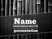 Nature & Environment: Modello PowerPoint - Bambù nero #11403