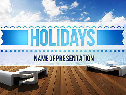 Wooden Terrace PowerPoint Template, 11405, Holiday/Special Occasion — PoweredTemplate.com