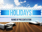 Holiday/Special Occasion: Wooden Terrace PowerPoint Template #11405