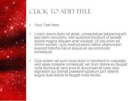 Golden Stars on Red PowerPoint Template, Slide 3, 11406, Abstract/Textures — PoweredTemplate.com