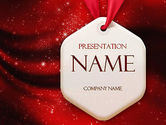 Abstract/Textures: Golden Stars on Red PowerPoint Template #11406