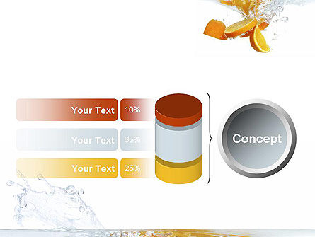 Orange Splash in Water PowerPoint Template Slide 11