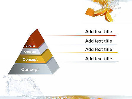 Orange Splash in Water PowerPoint Template Slide 12