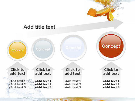 Orange Splash in Water PowerPoint Template Slide 13