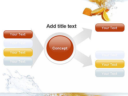 Orange Splash in Water PowerPoint Template Slide 14