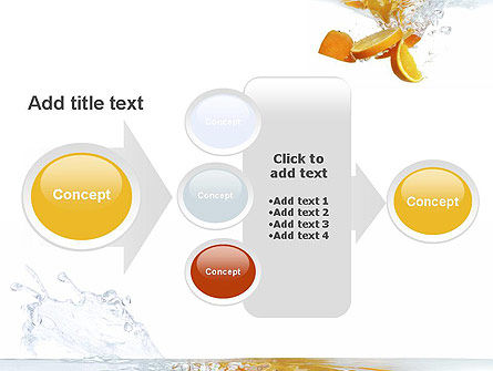 Orange Splash in Water PowerPoint Template Slide 17