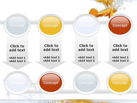 Orange Splash in Water PowerPoint Template Slide 18