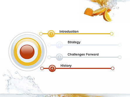 Orange Splash in Water PowerPoint Template Slide 3