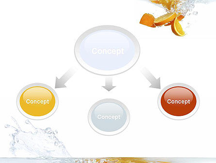 Orange Splash in Water PowerPoint Template Slide 4