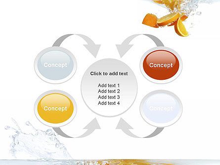 Orange Splash in Water PowerPoint Template Slide 6