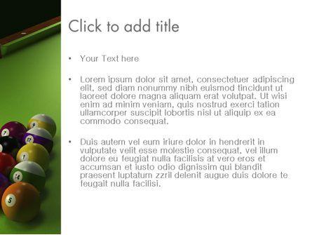 Pool Game PowerPoint Template, Slide 3, 11413, Sports — PoweredTemplate.com