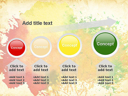 Colorful Watercolor Stains PowerPoint Template Slide 13