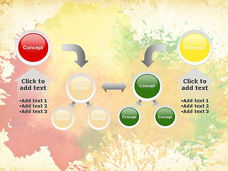 Colorful Watercolor Stains PowerPoint Template Slide 19