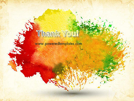 Colorful Watercolor Stains PowerPoint Template Slide 20