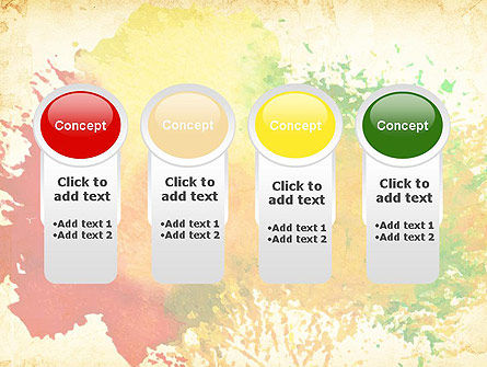 Colorful Watercolor Stains PowerPoint Template Slide 5