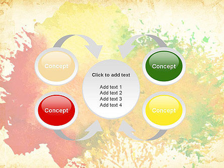 Colorful Watercolor Stains PowerPoint Template Slide 6