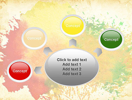 Colorful Watercolor Stains PowerPoint Template Slide 7