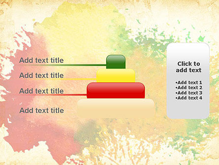 Colorful Watercolor Stains PowerPoint Template Slide 8