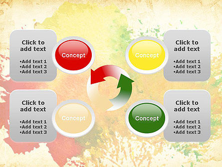 Colorful Watercolor Stains PowerPoint Template Slide 9