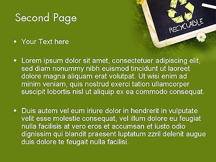 Waste Management Powerpoint Template, Backgrounds | 11419