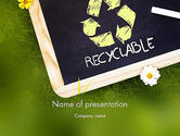 Nature & Environment: Waste Management PowerPoint Template #11419