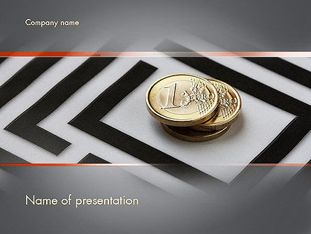 Money in Maze PowerPoint Template