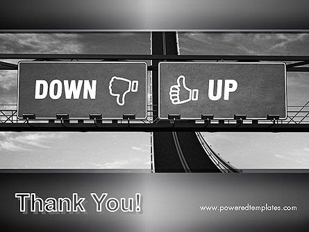 Up and Down Highway Signs PowerPoint Template Slide 20
