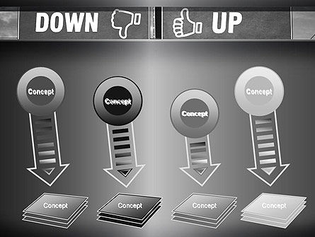 Up and Down Highway Signs PowerPoint Template Slide 8