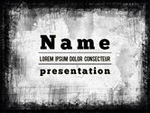 Abstract/Textures: Black China Ink Frame PowerPoint Template #11426