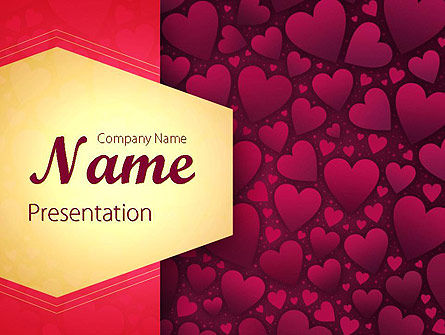 Tag of Hearts PowerPoint Template, 11428, Abstract/Textures — PoweredTemplate.com
