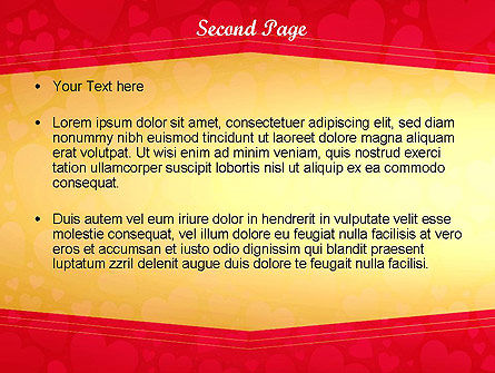 Tag of Hearts PowerPoint Template Slide 2