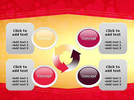 Tag of Hearts PowerPoint Template Slide 9