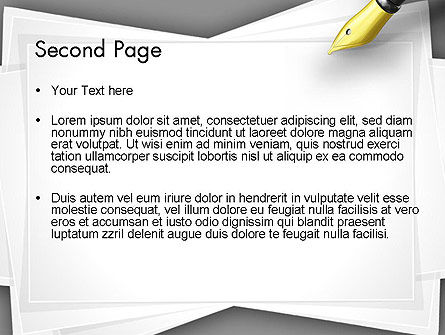 Inkpen PowerPoint Template Slide 2