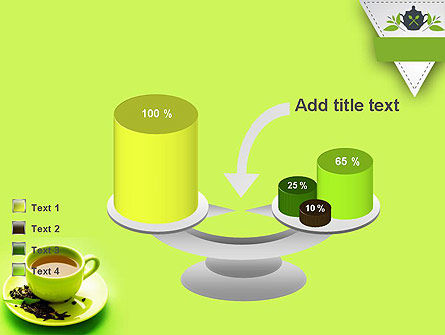Green Tea Cup PowerPoint Template Slide 10