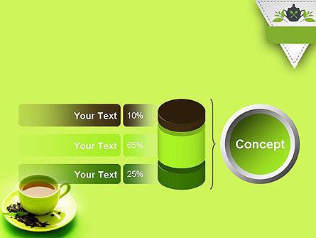 Green Tea Cup PowerPoint Template Slide 11