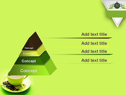 Green Tea Cup PowerPoint Template Slide 12