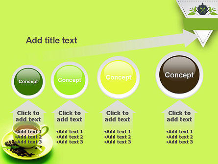 Green Tea Cup PowerPoint Template Slide 13